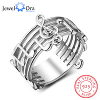 New 925 Sterling Sliver Rings For Women With Musical Note Pattern Music Lover S Band Ring