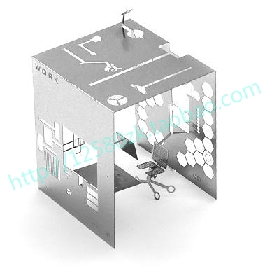 Personality Flip Room Cutout Quality 3D Metal Card