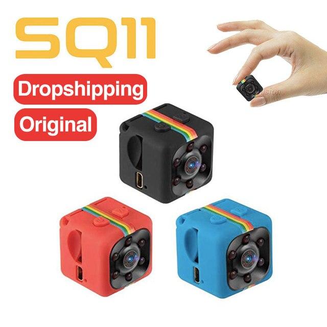원래 새로운 SQ11 HD 1080P/480P 미니 카메라 나이트 비전 Gizli 카메라 비밀 Camara Espia Oculta 마이크로 캠 지원 숨겨진 TF 자동차