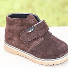 Новые Мальчики ботильоны из натуральной кожи замшевые ботинки весна осень обувь для дети обувь zapato menino детская обувь
