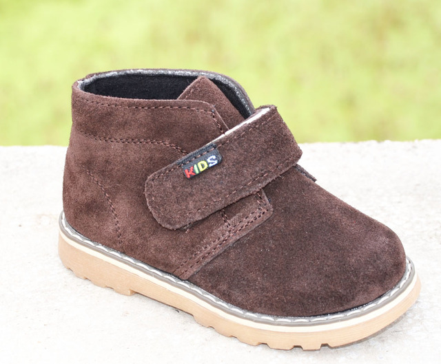 2017 new boys ankle shoes genuine leather suede boot spring autumn footwear  for kids chaussure zapato menino children shoes 0c34d52c0ec4