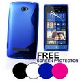 S Line Wave Gel Case Cover For HTC 8S Clear Skin + 8S Screen Protector
