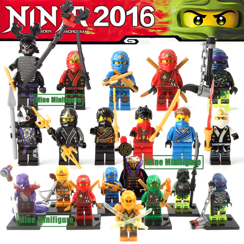 Single sale Ninjagoe Minifigures Blocks KAI JAY COLE ZANE Lloyd WU Phantom building Blocks Kids Toys Gifts compatible with lego