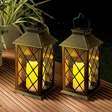 LED Solar Lantern Lights Hanging Lamp Outdoor Solar Light Candle Bulb Pathway Mental Waterproof for Patio Courtyard Garden hot 10pcs 50w led solar lights waterproof 3 modes sensor solar flood light with solar panel for outdoor garden courtyard pathway