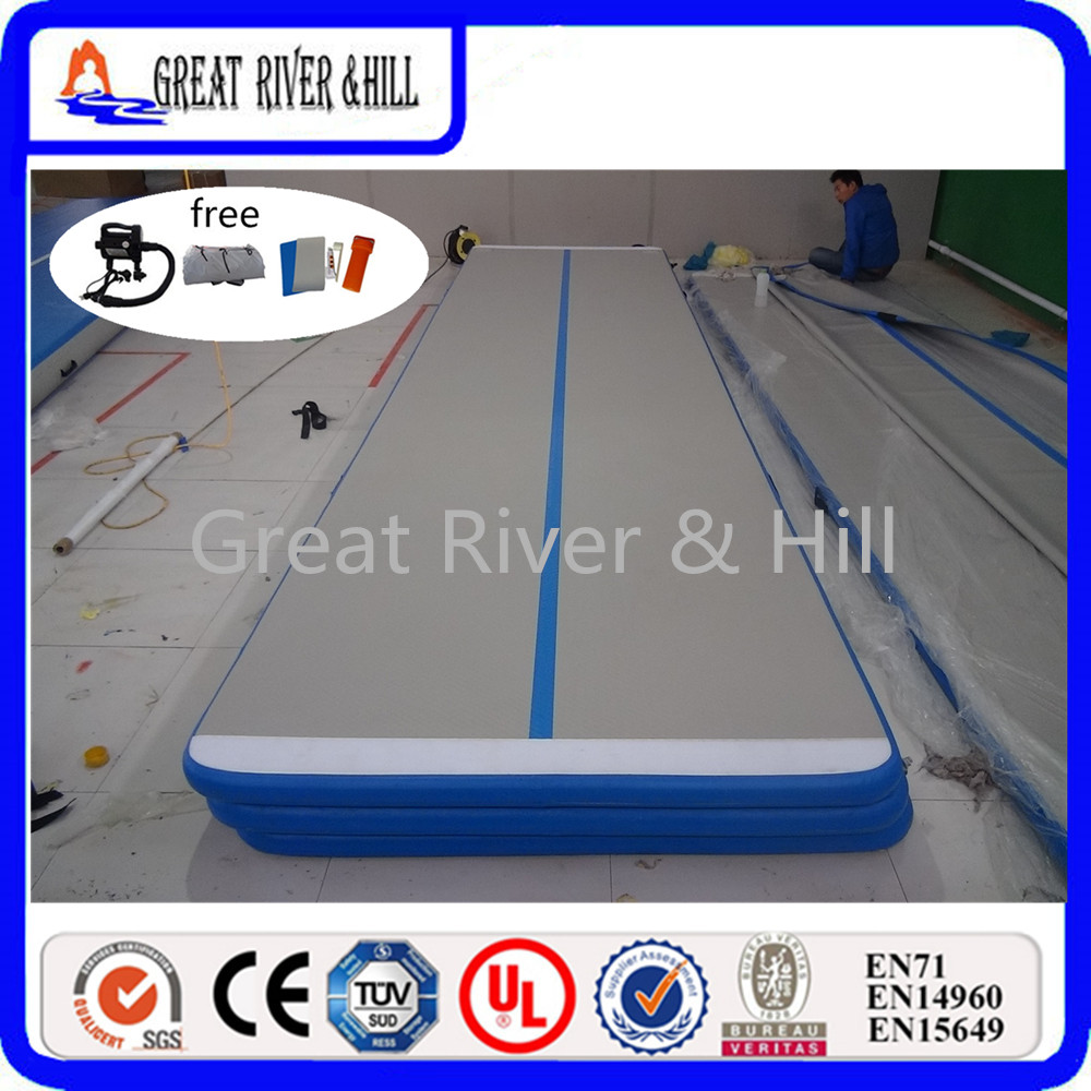 Great river & hill training mats air track high quality with fedex shipping and tax 6m x1m x10cm