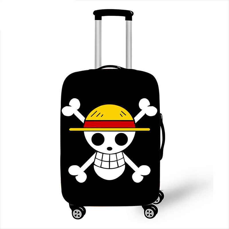 18-32 Inch Anime One Piece Travel Accessories Luggage Cover For Girls Boys Suitcase Protective Cover Elastic Trolley Bag