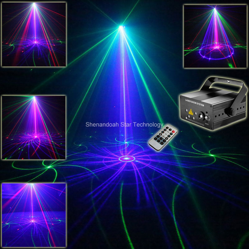 ESHINY MINI RGB 5 Lens Laser 96 Pattern Projector Blue Led Club Party Bar DJ Disco Xmas Dance Lighting Stage Effect Light N75T91 the latest 2lens 40 pattern laser light for dj disco club party stage lighting effect page 2