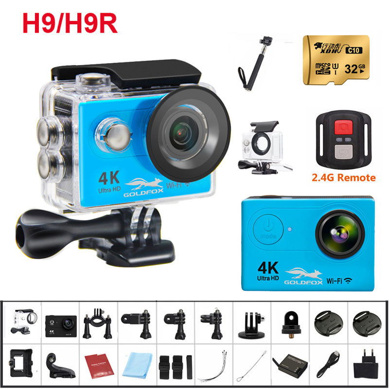 2018 NEW H9 / H9R Ultra Action Camera 4K Wifi 30M waterproof 1080p underwater go extreme pro sport cam accessories 2017 arrival original eken action camera h9 h9r 4k sport camera with remote hd wifi 1080p 30fps go waterproof pro actoin cam