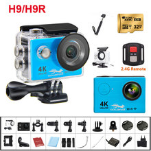 2018 NEW H9 / H9R Ultra Action Camera 4K Wifi 30M waterproof 1080p underwater go extreme pro sport cam accessories