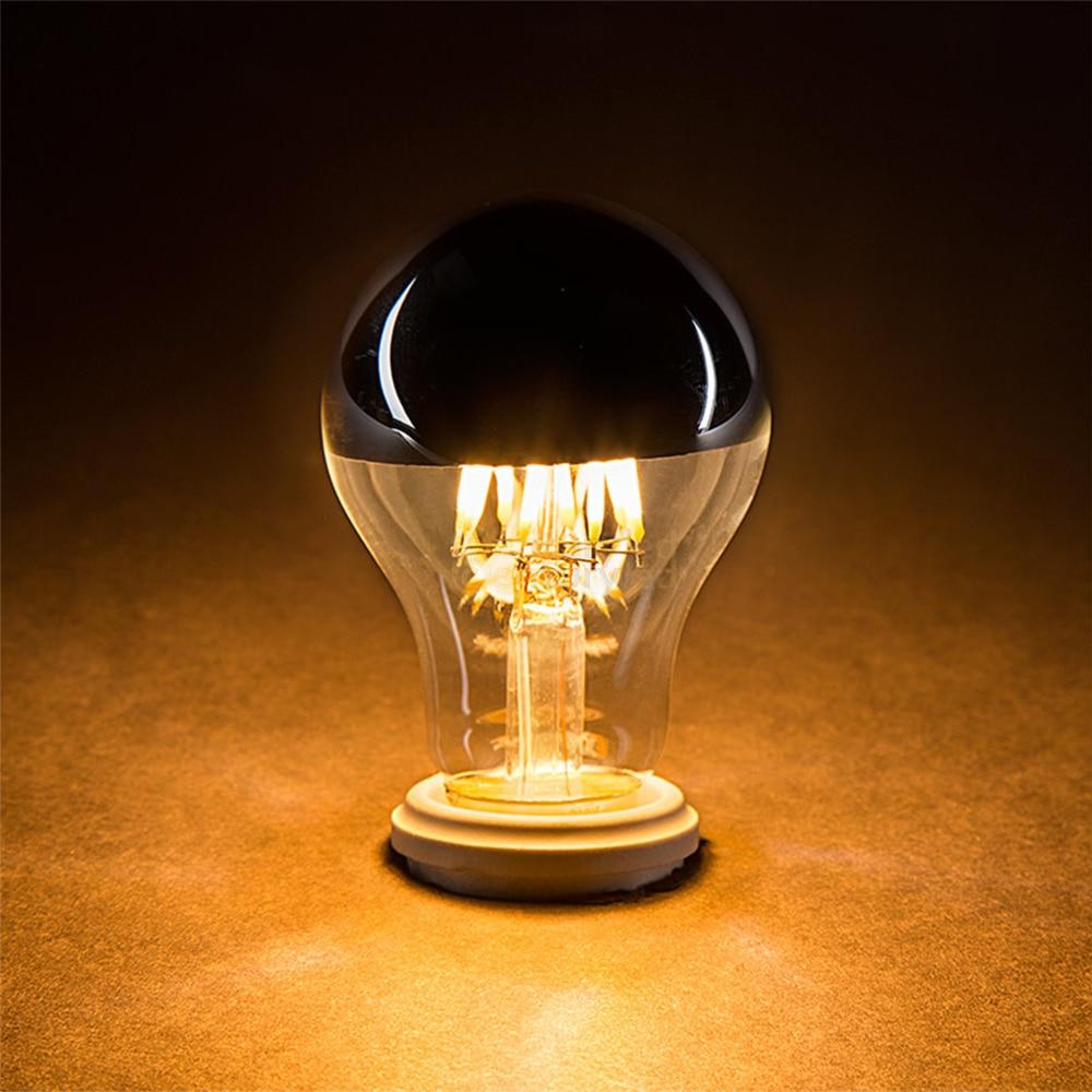 Grensk Dimmable Led Edison Bulb E27 8W 220V Bulbs Filaments Led E26 110V Warm 2700K A19 Classic Crown Sliver Vintage Light Lamp