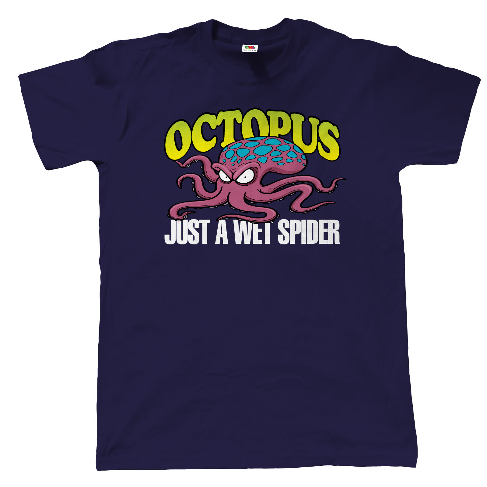 Octopus Mens Funny T Shirt - Gift for Dad Fathers Day 2017 Brand T Shirt Men Fashion 3D Men Hot Cheap Short Sleeve Male T-Shirt