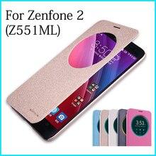 NILLKIN для Asus Zenfone 2 ZE551ML Чехол Флип Кожа PU телефон чехол для Asus Zenfone 2 (Z551ML) Бизнес Стиль PU кожаный чехол