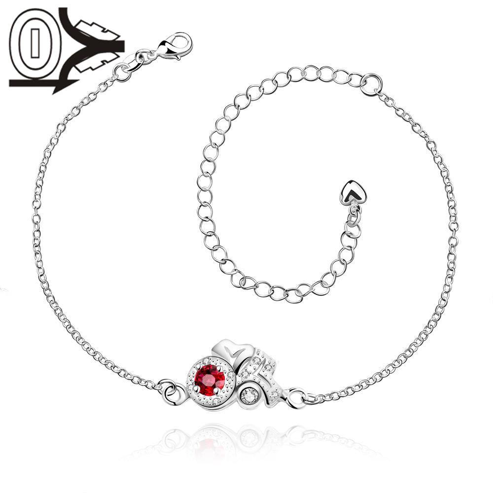 A043-B Free Shipping New Design Large Stock Delicate Handmade Cheap Silver Plated Anklet Ladies Feet Chain Bracelets Bulk Sale