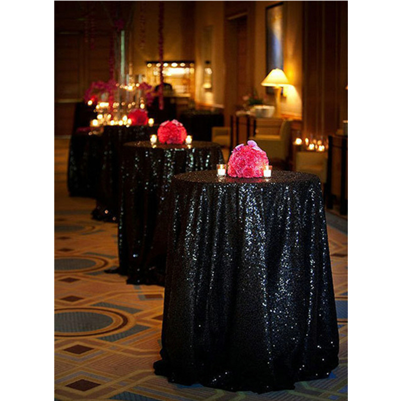 Miraculous Us 11 67 10 Off Shinybeauty 60 72 90 96 108 120Inch Sequin Tablecloth Round Black Tablecloth Dining Table Cover Decor 0925K In Tablecloths From Home Home Interior And Landscaping Ponolsignezvosmurscom