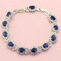 Fashion Dark Blue Purple Multicolor Green Crystal Bracelets For Women Silver Color Women S Bracelet Free