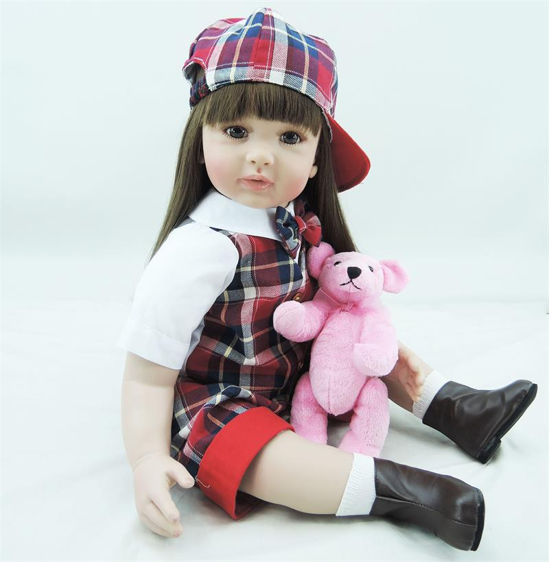 Pursue 24/60 cm Adorable Baby Alive Real Lifelike Reborn Toddler Silicone Princess Girl Doll Toys for Children Girls Gift Dolls adorable soft cloth body silicone reborn toddler princess girl baby alive doll toys with strap denim skirts pink headband dolls