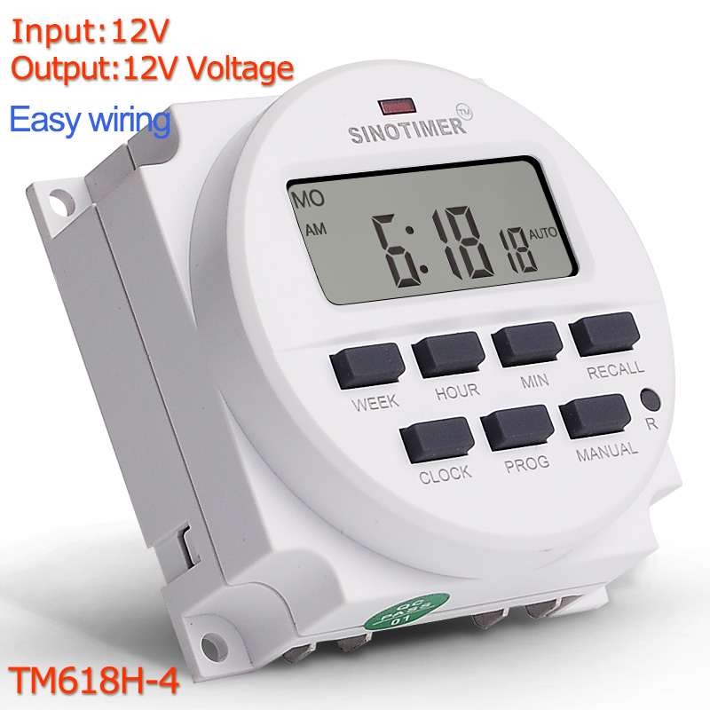 DC 12V 7 Days Weekly Programmable Digital Timer Switch Time Relay Control  12 Volt in 12/24 Hours Format Clock with Countdown OFF|Timers| - AliExpress | Dc Timer Switch Wiring Diagram |  | AliExpress