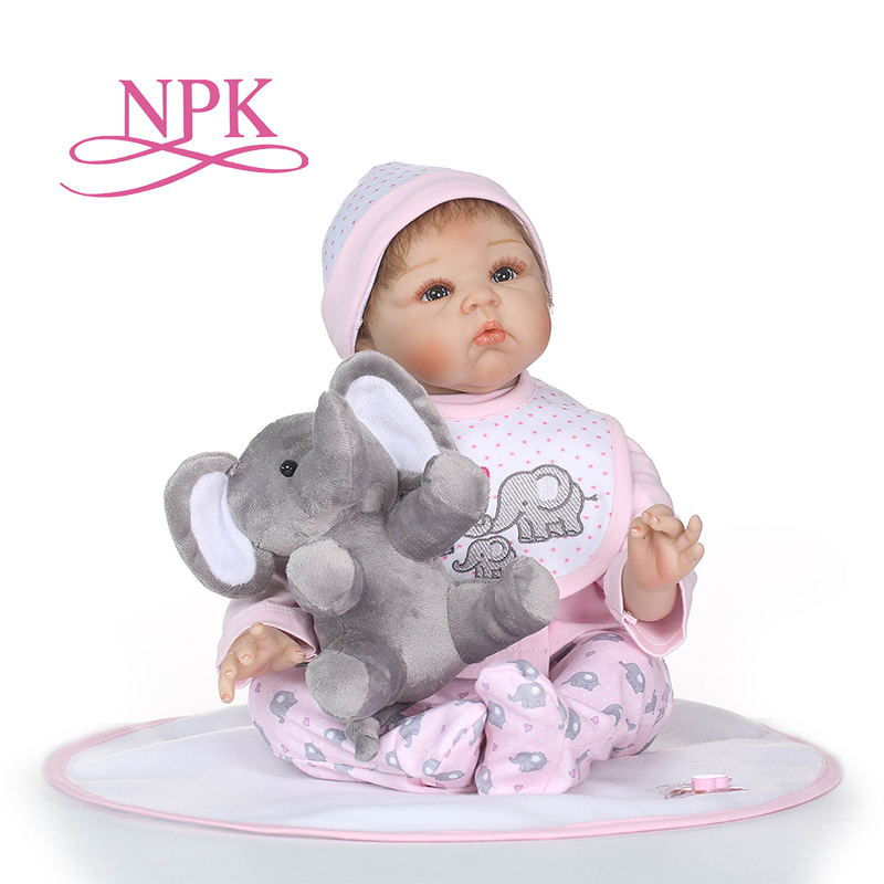 NPK 55 cm Silicone Reborn Dolls Kids Playmate 22 Inch lifelike Baby Dolls For Sale Bebe Alive Reborn Toy Xmas Gifts npk hot sale reborn baby dolls realistic girl princess 23 inch baby dolls alive reborns toddler bebe washable toy for kids gifts