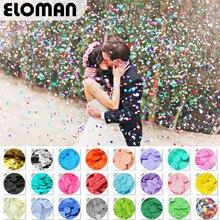 ELOMAN 30 г/пакет 2,5 см конфетти Золото Серебро Фольга mulit 24 цвета для свадебной вечеринки украшения круглые ткани для прозрачных воздушных шаров