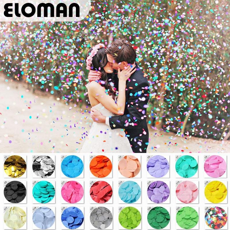 ELOMAN 30 г/пакет 2,5 см конфетти Золотая Серебряная фольга mulit 24 цвета для украшения свадебной вечеринки круглая салфетка для прозрачных воздушн...