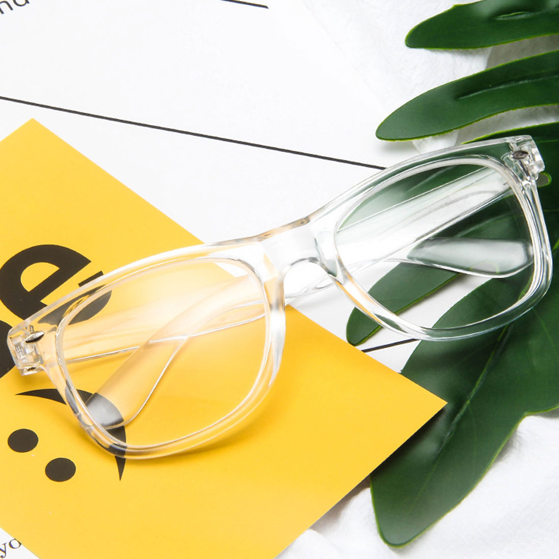 Finished Myopia Glasses Transparent White Plastic Frame Eyewear Diopters 0 -0.5 -1 -1.5 -2 -2.5 -3 -3.5 -4 -4.5 -5 -5.5 -6