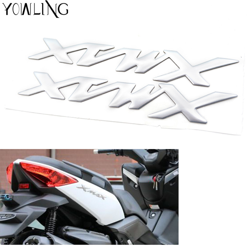 Gold XMAX Badges Decal Stickers 3D Raise for Yamaha Motorcycles X MAX Scooter