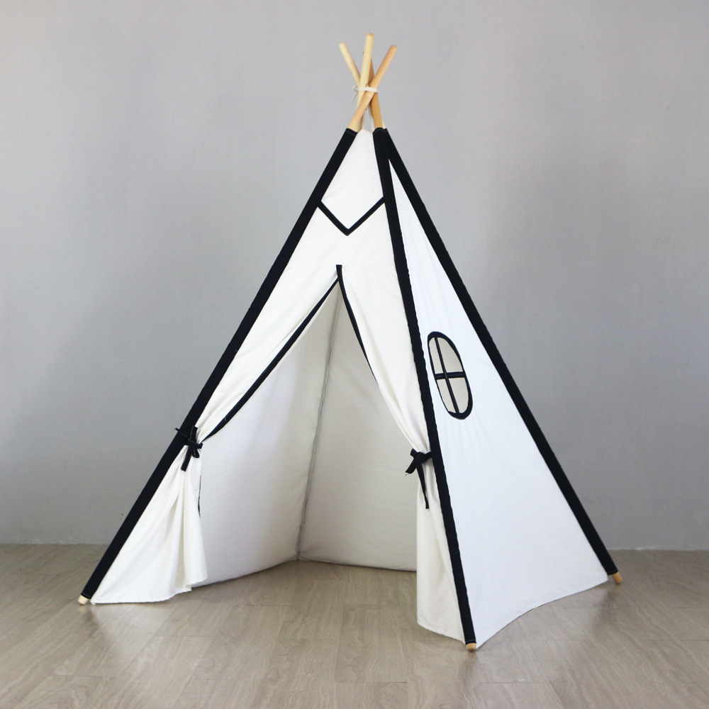 Portable Indoor Teepee Childrens Teepee Play Tent Tipi Kids Children Tipi pink clouds teepee tent indoor childrens play tipi
