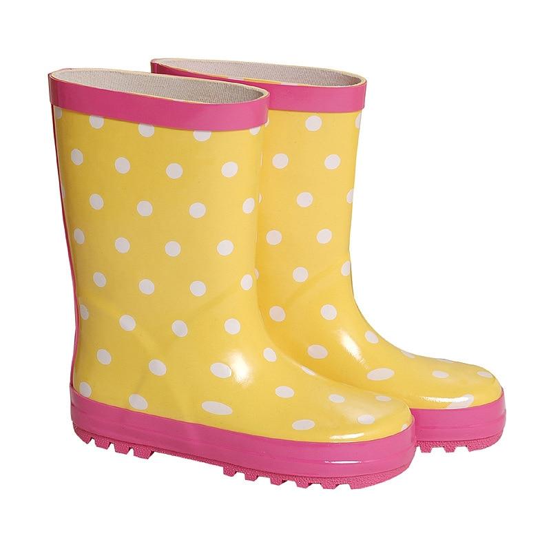 Children Little Girl Rain Boot Fashion Dot Rubber ...