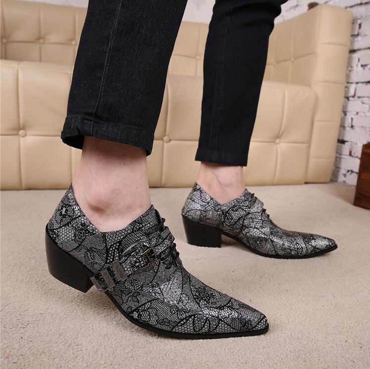 Bout pointu chaussures à lacets en cuir hommes d'affaires chaussures oxford pour hommes fête mariage hommes chaussures