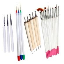 New Arrival 23 Pcs Nail Art Polish Painting Draw Pens Brush Tips Tools Set UV Gel Nail Brushes