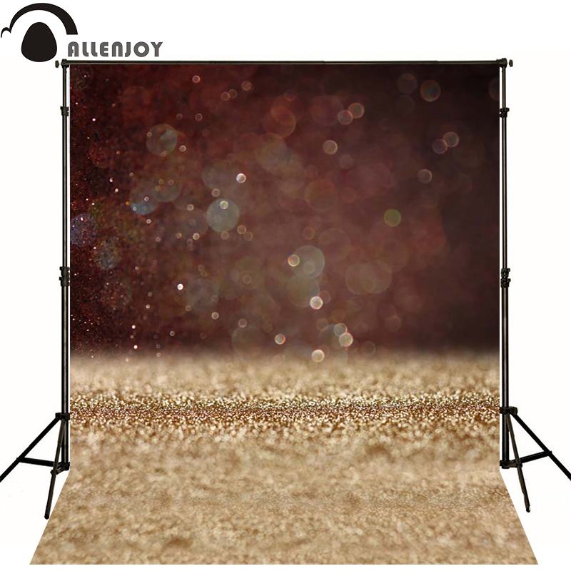 Allenjoy Photographic background Dot light gold luxury newborn vinyl backdrops  photocall photo for studio new design