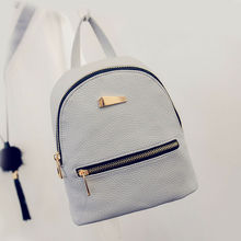 Fashion Women PU Backpack mini backpack Travel Shoulder Bag Girls Ladies PU Leather Rucksack White Cmall Backpack