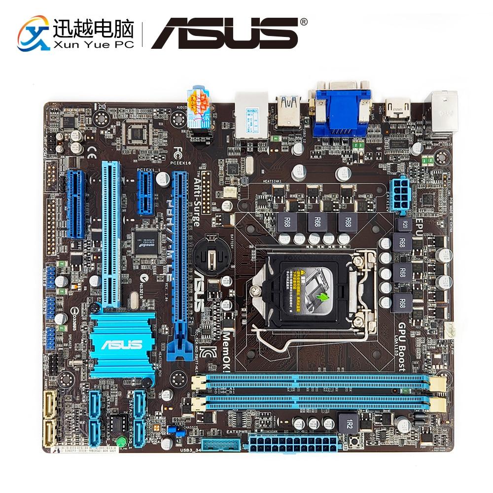 Asus P8H77-M LE Desktop Motherboard H77 LGA 1155 i3 i5 i7 DDR3 16G SATA3 USB3 HDMI DVI VGA uATX цены онлайн
