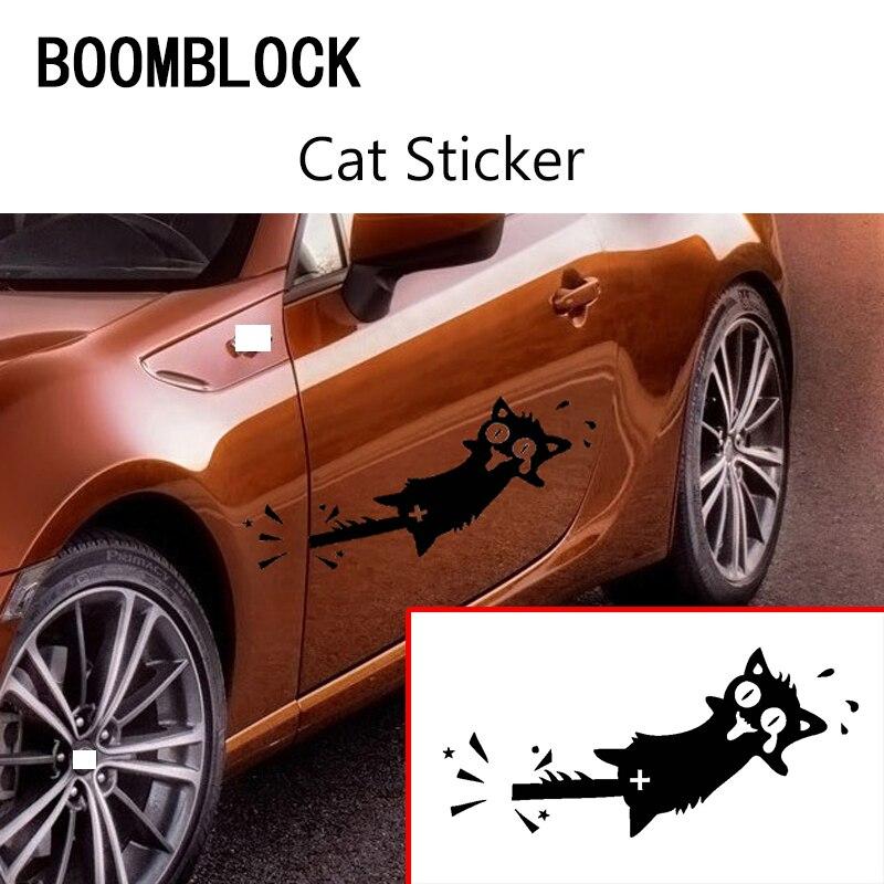 1Pcs Car-styling 3D Funny Cat stickers For Subaru Forester XV Toyota Corolla Avensis RAV4 C-HR Honda Civic Accord CRV Fit
