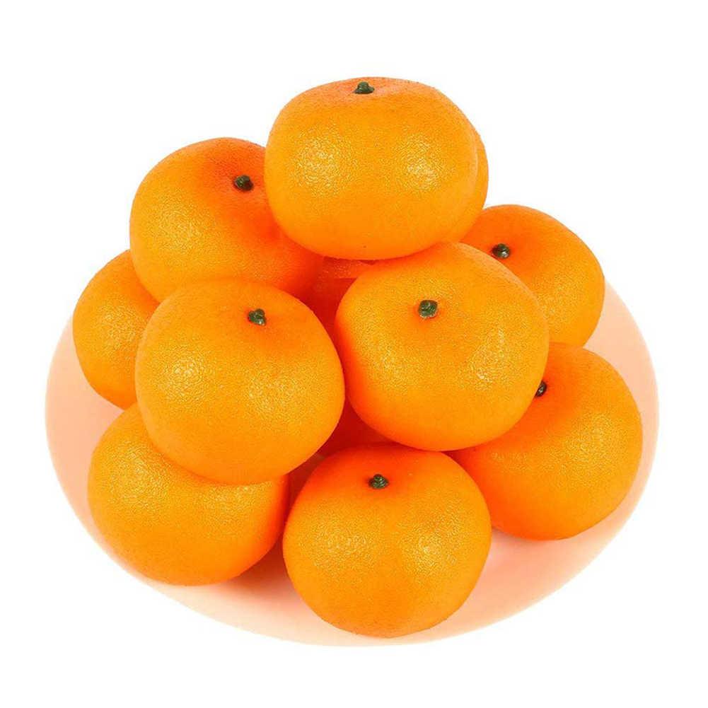 12 Pcs/set Buatan Buah Tinggi Simulasi Palsu Orange Dapur Berpura-pura Buah Perlengkapan untuk Pesta Pernikahan Rumah Dekorasi Baru
