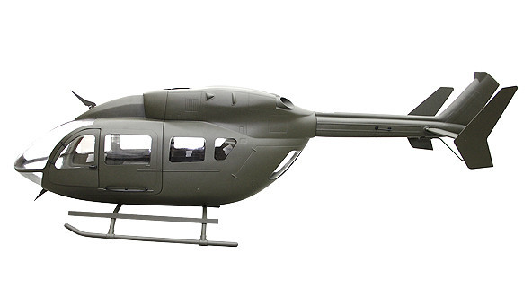 EC-145 600 Échelle Corps (Avec Métal Mise À Niveau Vitesse) (600 Taille) fuselage gros P3