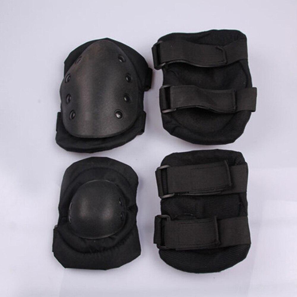 Prix pour 4 pcs/ensemble Sports Cyclisme Randonnée Tactique Swat Bmx Vélo extrêmement Sport Genou Elbow Knee Pad Protecteur Protection Garde Soutien