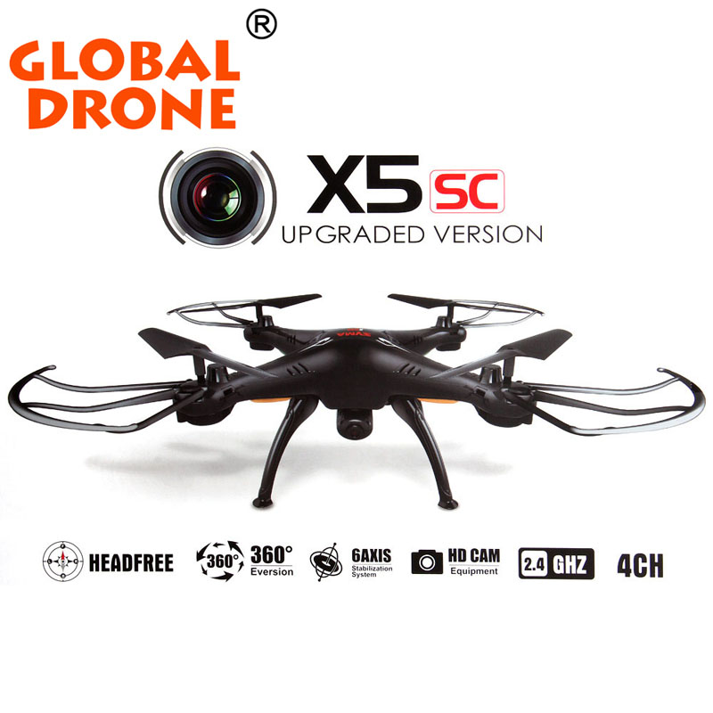 The newest Syma x5sc (Black and White) 2.4G 4CH 6-Axis 2MP Professional aerial RC Helicopter Quadcopter Toys Drone With Camera