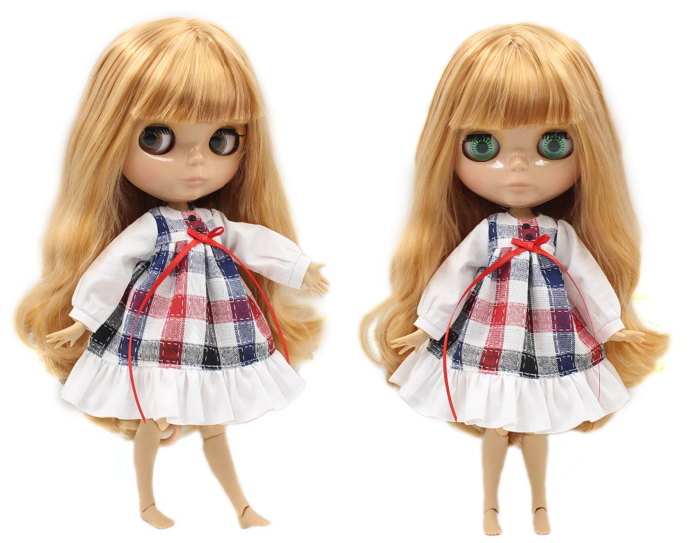 Neo Blythe Doll with Blonde Hair, Tan Skin, Shiny Face & Jointed Body 2