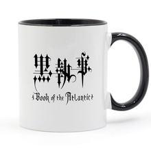 Anime preto mordomo livro do atlântico caneca de café cerâmica copo criativo diy presentes decoração para casa canecas 11oz t1117