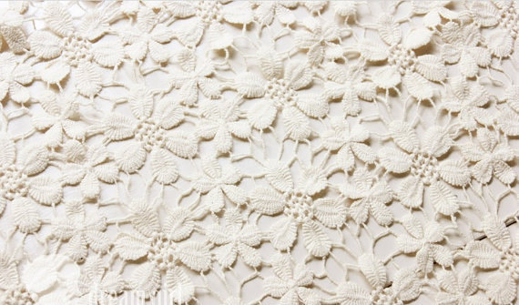 cotton lace fabric with daisy, guipure lace fabric with ...