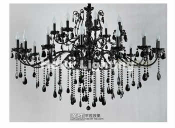 Free Shipping Newly Black Crystal Chandelier Lighting Top Luxury Factory Direct Selling 15L/18L/24L Design Crystal Chandelier