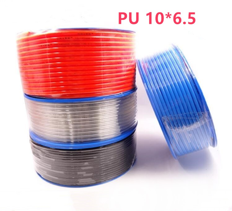 5 Meter Pneumatic Hose PU Tube OD 10MM ID 6.5MM Plastic Flexible Pipe PU10*6.5 Polyurethane Tubing 25meters 10mm od pu air tubing pipe hose