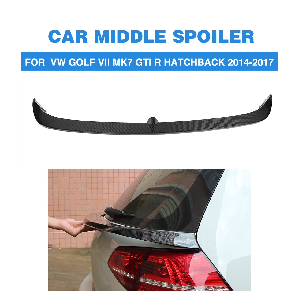 Carbon Fiber/FRP Unpainted Auto Car Rear Middle Wing Spoiler Lip For Volkswagon VW Golf 7 VII MK7 GTI R 2014-2007 car styling carbon fiber auto rear wing spoiler lip for vw scirocco 2010 2012