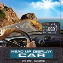 Car Hud Head Up Display 5 5 inch Large Screen with OBD II System KM h