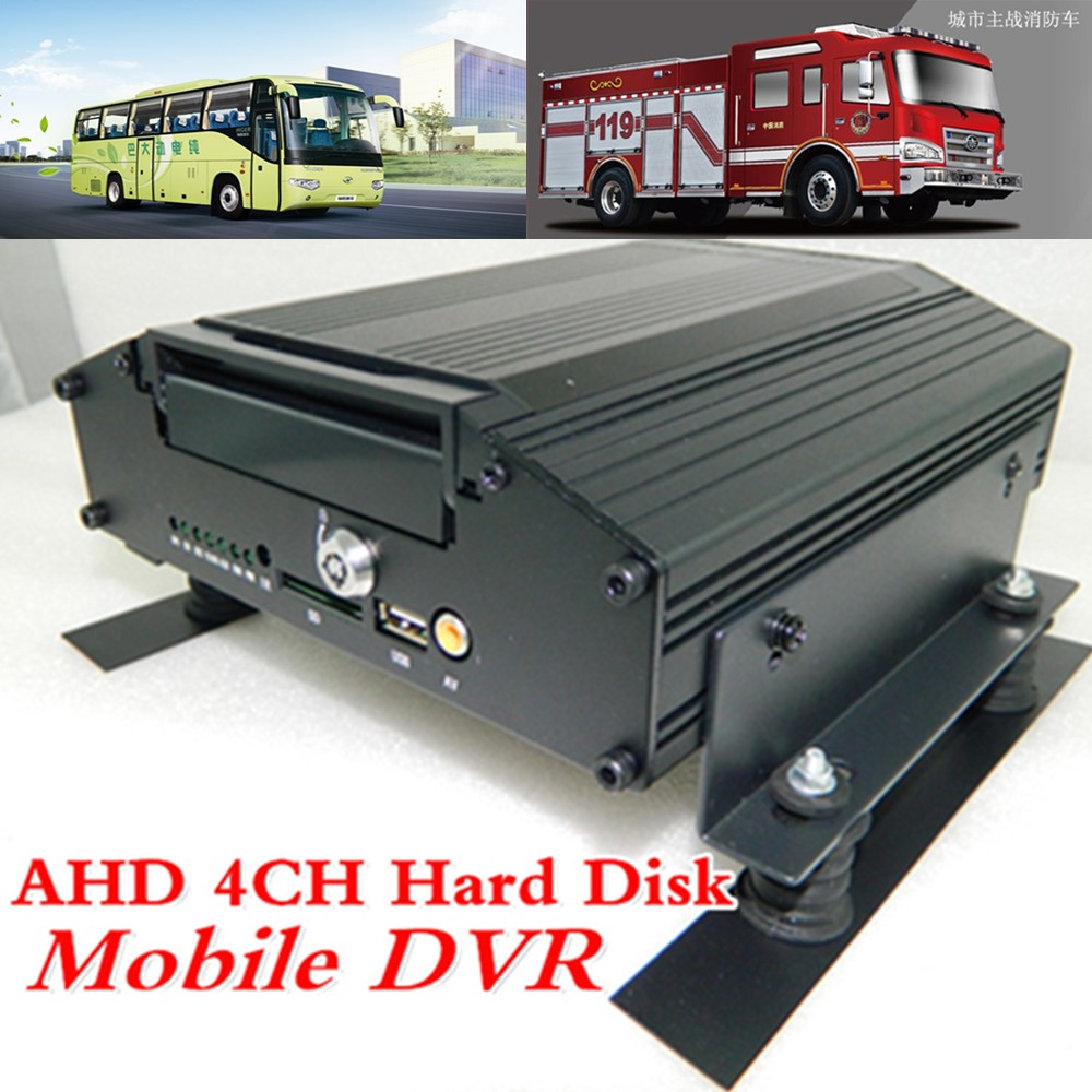 Linux operating system AHD 4 road vehicle video recorder GPS monitoring host HD HDD MDVR source factory