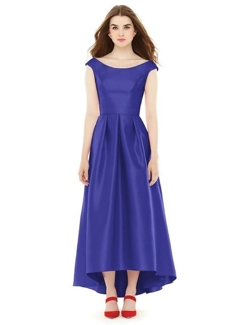 Us 99 0 Demure Cap Sleeve Scoop Royal Blue Summer Dresses Wedding Guests Front Short Back Long Brautjungfer Kleider Vestido Novia Rosado In