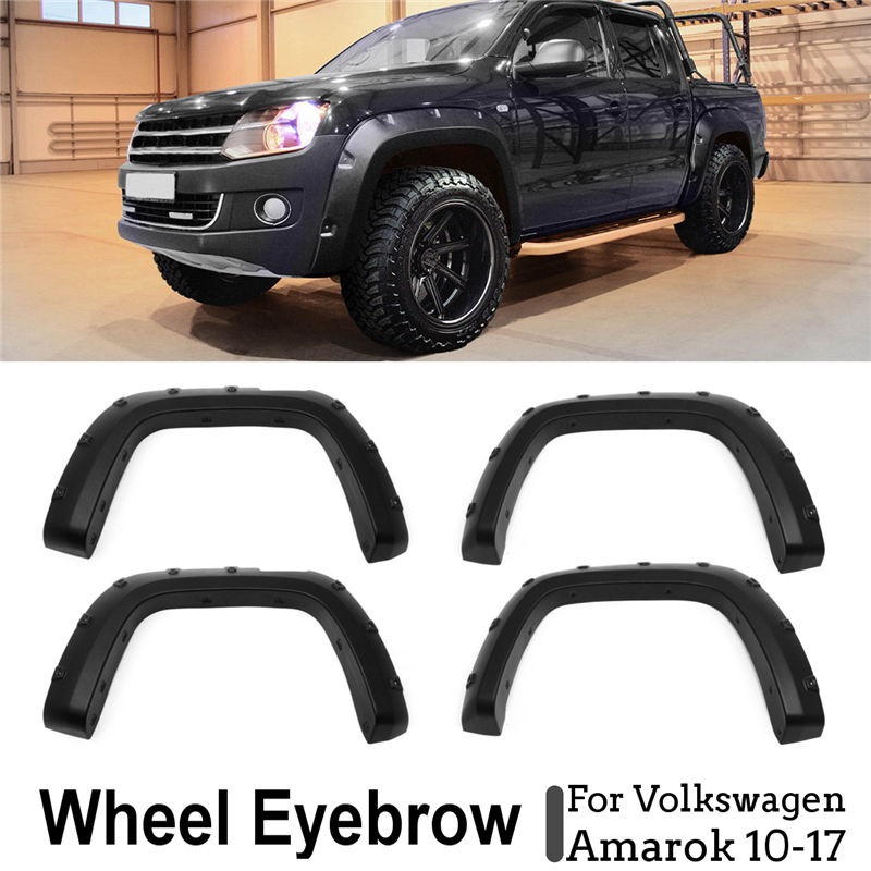 4in1 Wheel Eyebrow Kit Wheel Eyebrow For Fender Flares Wheel Arches For Volkswagen Amarok 10-17