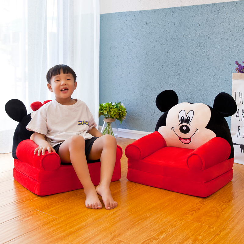 Louis Fashion Children Sofa Folding Cartoon Cute Lazy Person Lying Seat Baby Stool Kindergarten Can Be Disassembled Washed #3