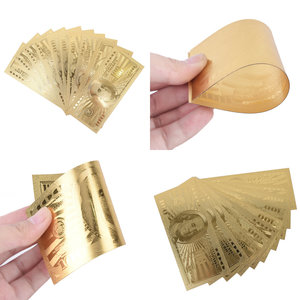 10pcs 100 Dollar USA Gold Banknote Currency Bill Paper Money Coin Medal 24k United States OF America(China)
